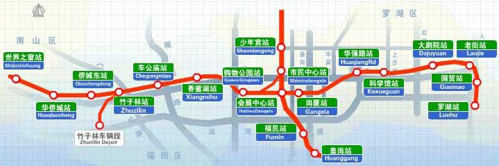 深圳地铁路线图